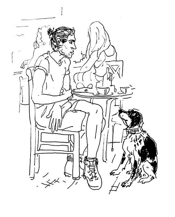 bicicleta y perro